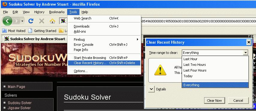 How to clear Firefox's cache
